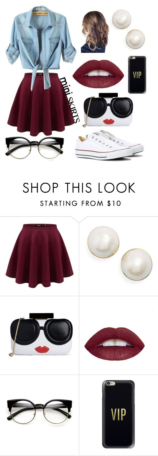 """""""Untitled #22"""" by rebekahmm ❤ liked on Polyvore featuring Kate Spade, Alice + Olivia, Casetify and Converse"""