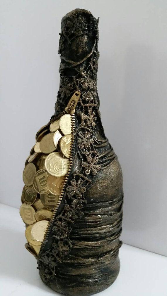 Decoupage bottle. HANDMADE. by Fialo4ka555 on Etsy