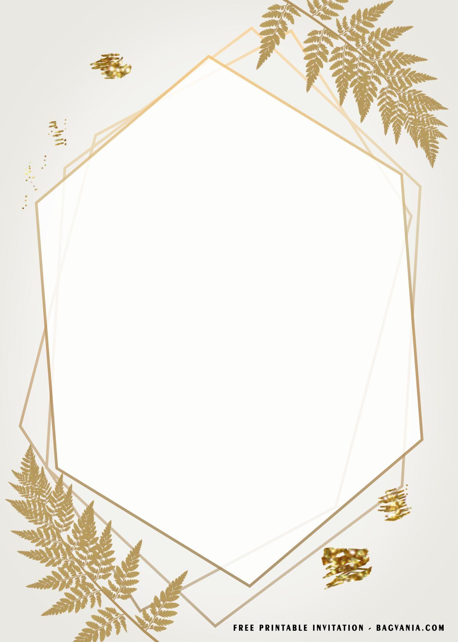 Free Printable Gold Frame Baby Shower Invitation Templates Baby Shower Invitation Templates Baby Shower Invitations Free Printable Invitations Templates
