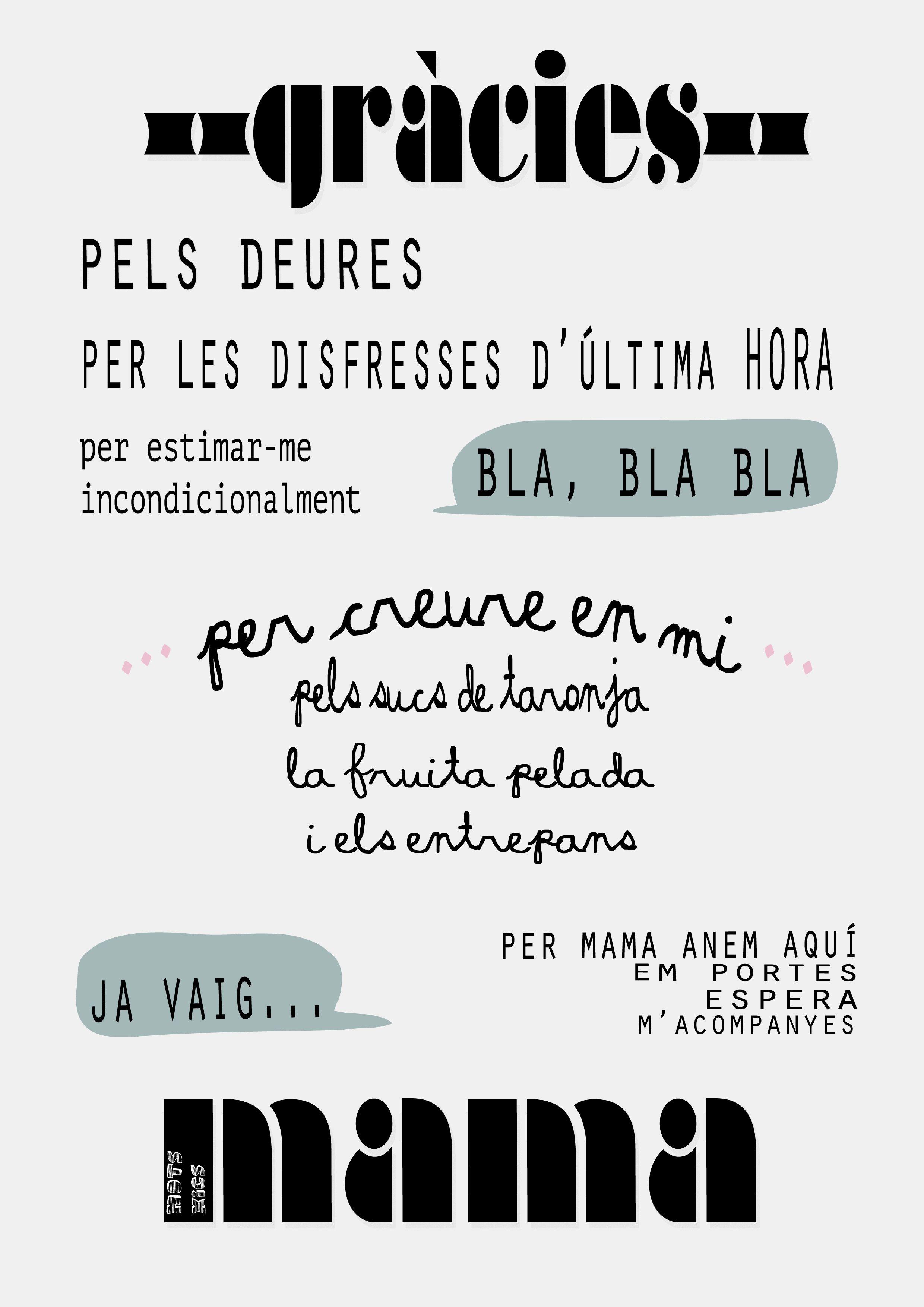 Mots En Català Pel Dia De La Mare Frases Positivas Frases