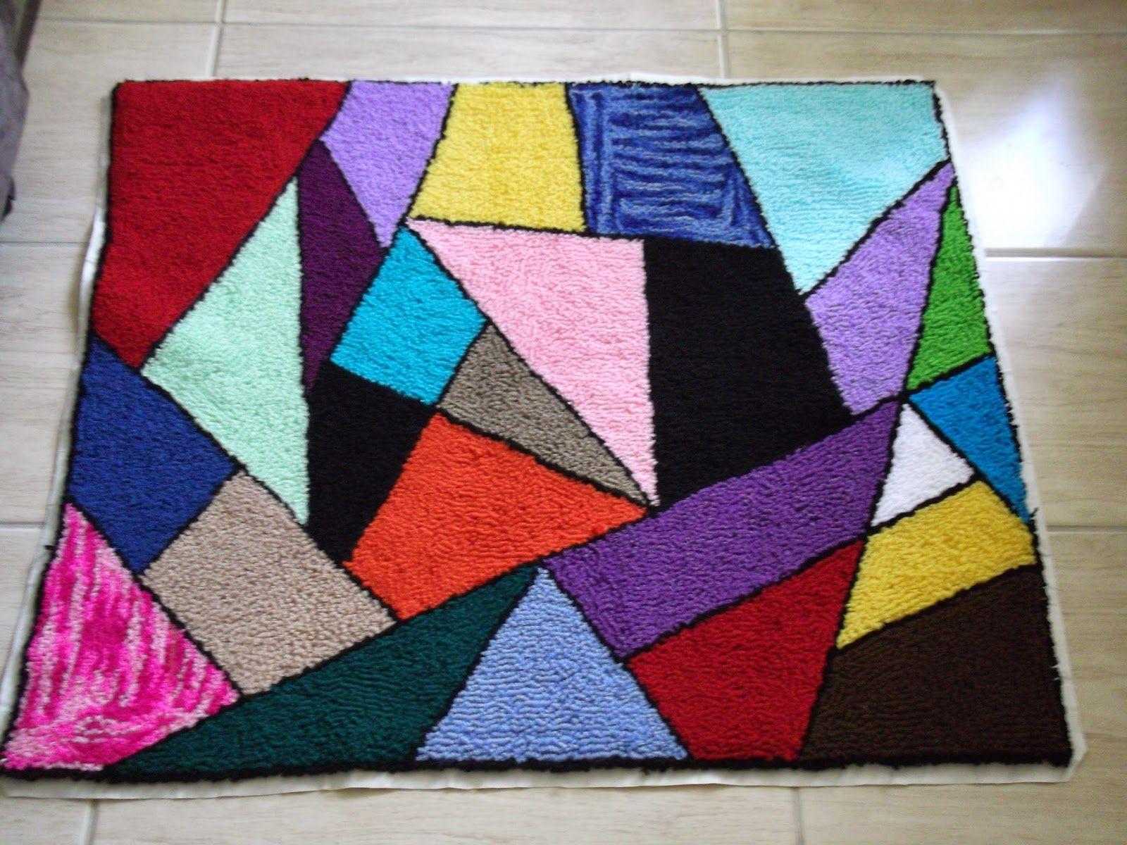Agulhas Mágicas da Aline   Tapete Mosaico  08bc1fbca36
