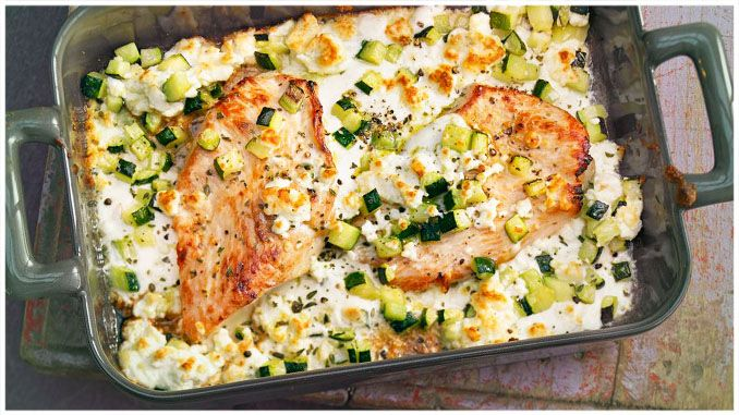 Photo of INGREDIENTS: 2 turkey schnitzel 1 zucchini 200 g feta cheese 1 be …