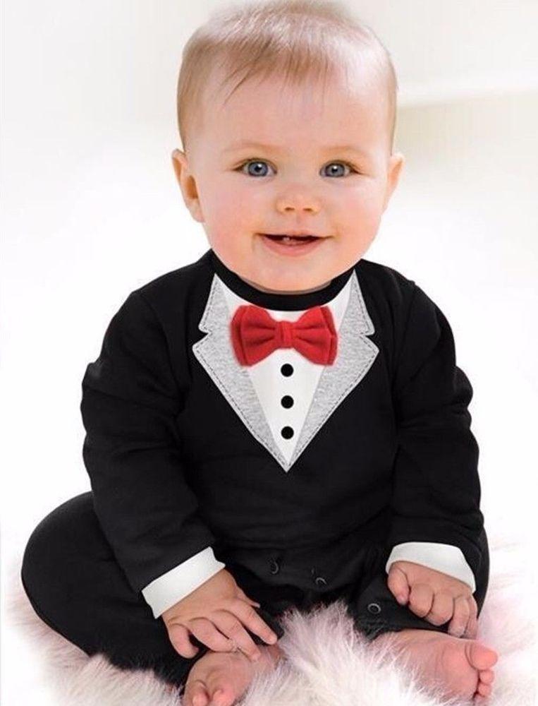 171b74514590 Ropa de Bebe Recien Nacido Estilo Traje con Moño ~ Dress Tux Baby ...