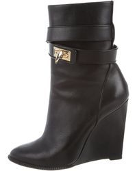 4cd915f28180 Givenchy - Shark-lock Wedge Boots Black - Lyst