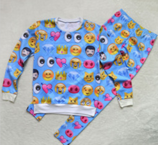 BrytCouture - Unisex Emoji Sweatpants Joggers and Sweater Blue - Set, US$74.99 (http://www.brytcouture.com/unisex-emoji-sweatpants-joggers-and-sweater-blue-set/)