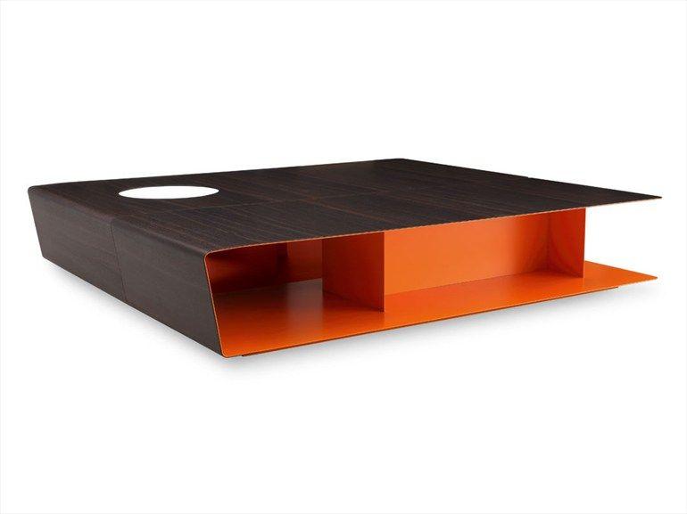 Tavolino basso in lamiera da salotto collezione paris for Mobili di design a basso costo