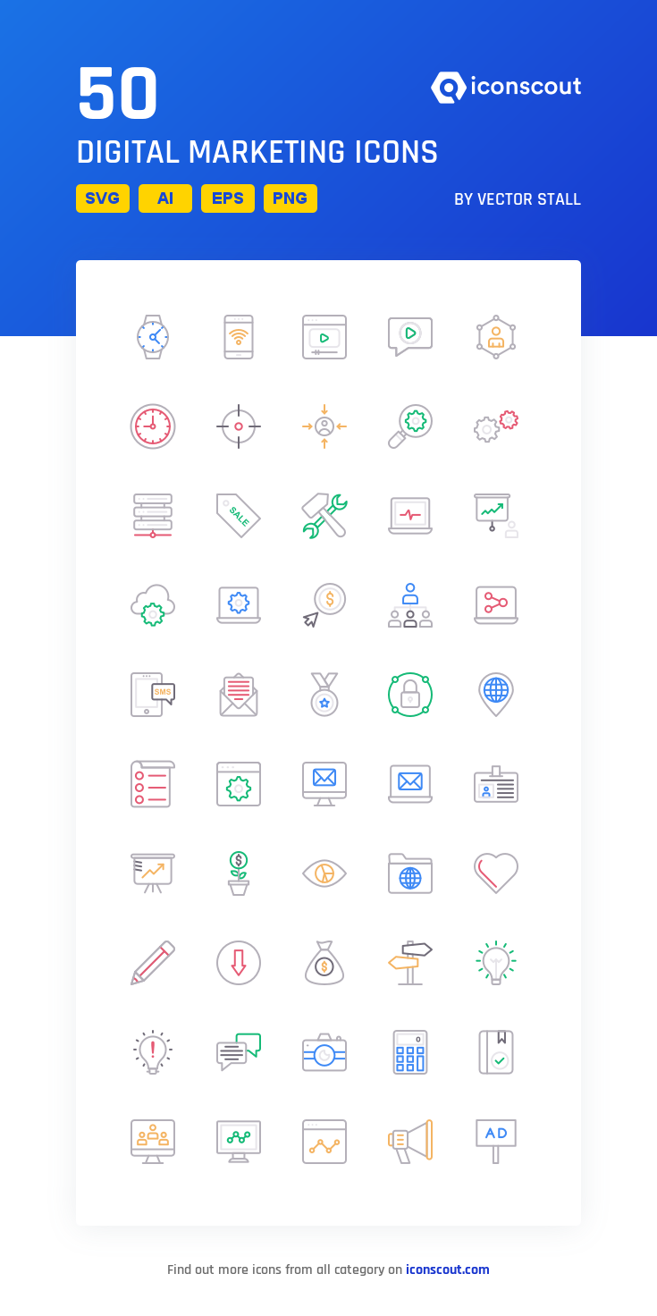 Download Digital Marketing Icon Pack Available In Svg Png Eps Ai Icon Fonts Marketing Icon Digital Marketing Icon Pack