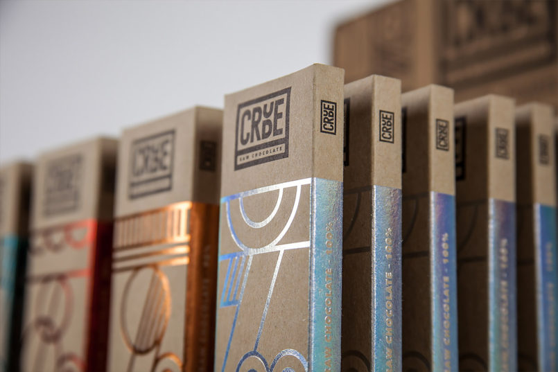 Crude Raw Chocolate Branding by Happycentro Inspiration