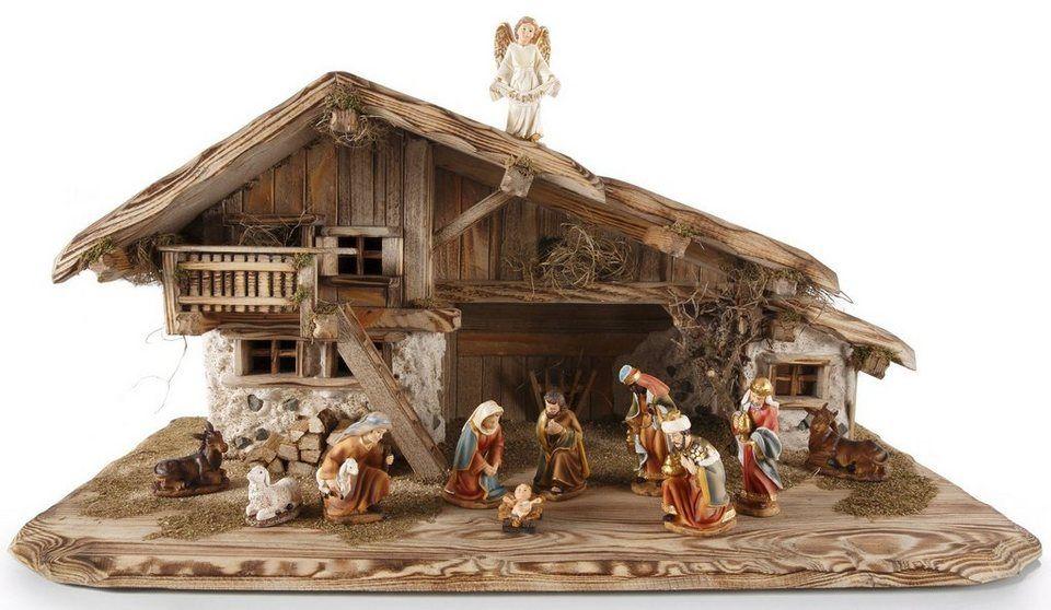 hochwertiger krippenstall made in germany weihnachten. Black Bedroom Furniture Sets. Home Design Ideas