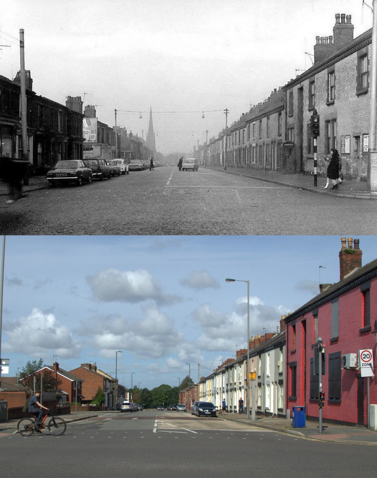 Sleepers Hill, 1969 and 2019 in 2020 Liverpool, City