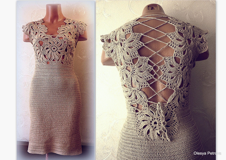 Beige Bridesmaid Dresses Style R101 Short: Golden Beige Lace Back Dress A Line Corset Dress Evening