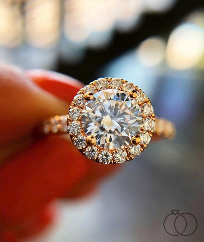 Michael M 18k Rose Gold Diamond Engagement Ring Setting 3 4 Ct Tw Rose Gold Diamond Ring Engagement Diamond Engagement Ring Designs Rose Gold Engagement Ring