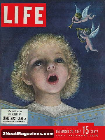 1947 : Cover - Small girl singing, art by Gladys Rockmore Davis (Noel Rockmore's mother)