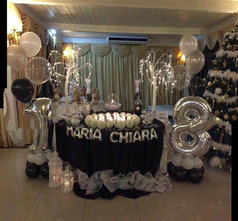 Allestimento tavolo torta con confettata by giocart for Decorazioni per torta 60 anni