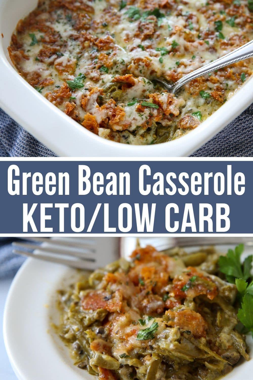 Green Bean Casserole Keto Low Carb Recipe Greenbean