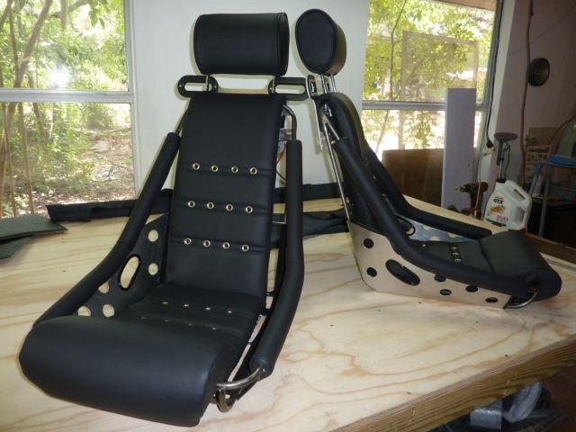 Our Hot Rod Zeppelin Seats Brushed Frame Polished