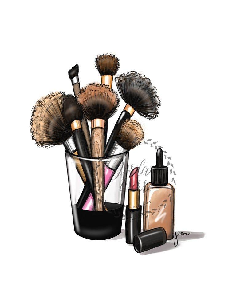 Makeup Lover, Makeup Brush Vanity Art