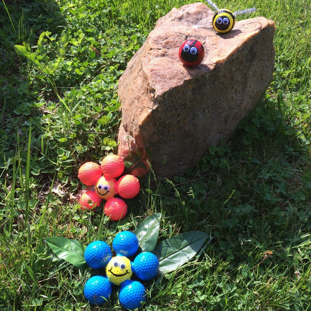 Golf Ball Ladybugs Craft Is Super Cute Easy Diy To Try   Bumble bees ...