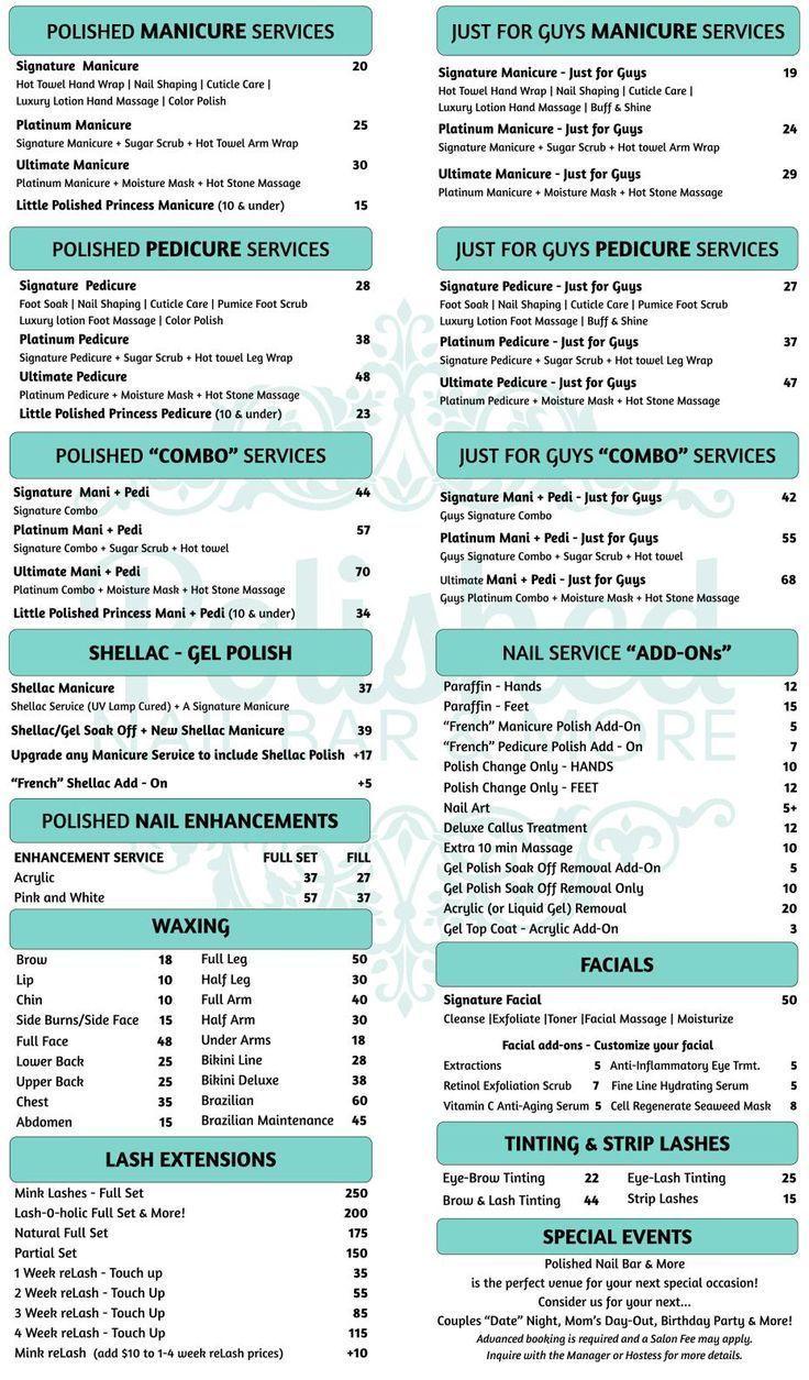 best 25 salon menu ideas on pinterest price list h… in ...
