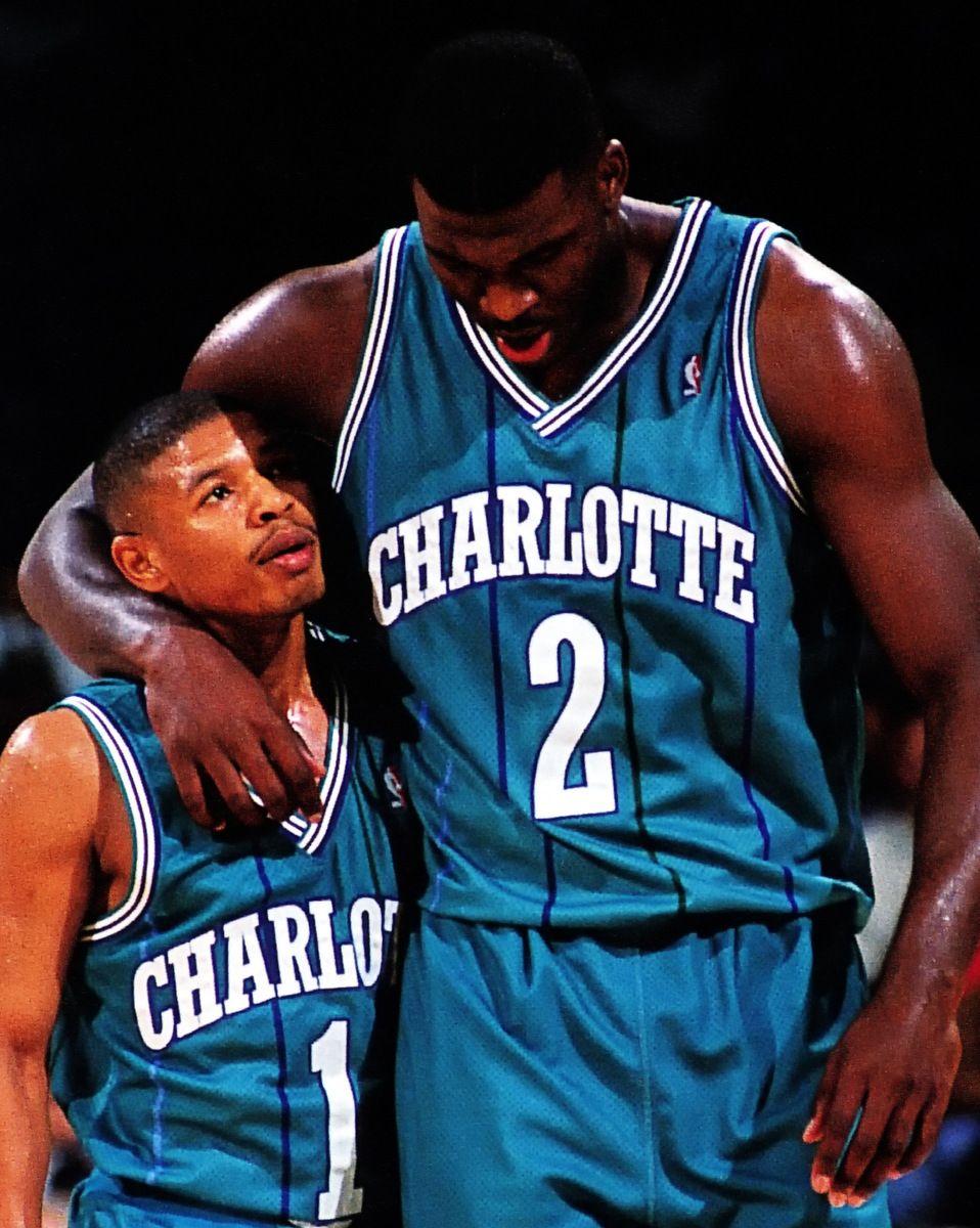 Muggsy Bogues Larry Johnson Nba Nba Basketball Nba