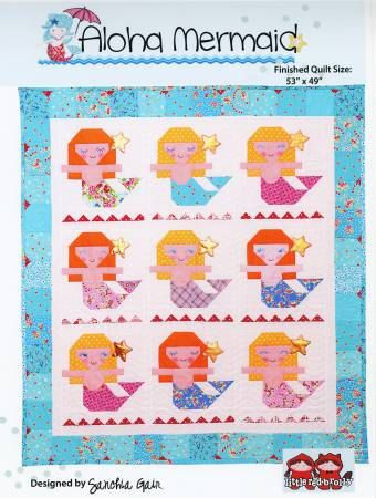 De Aloha Quilt.Pattern Aloha Mermaid Quilt By Red Brolly By Dorothyprudiefabrics