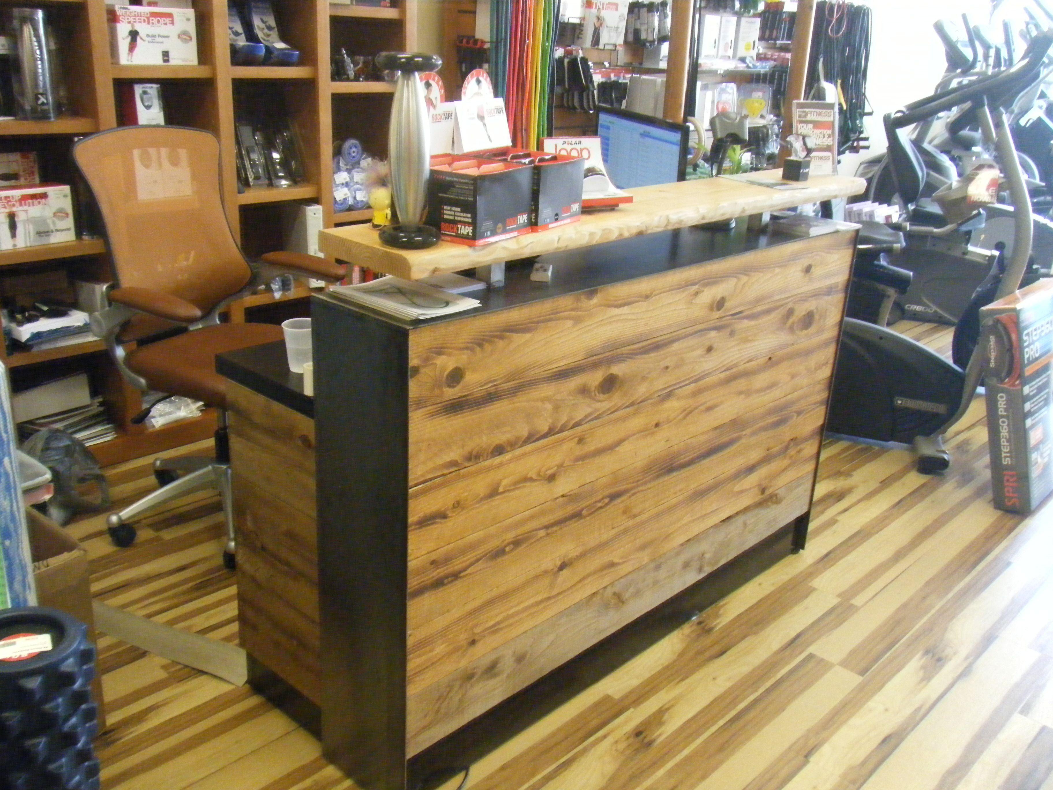 Interior Design Courses, Wood Desk, Reception Desks, Distressed Wood, Design  Interiors, San Antonio, Receptions, Sales