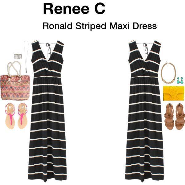Renee c ronald striped maxi dress