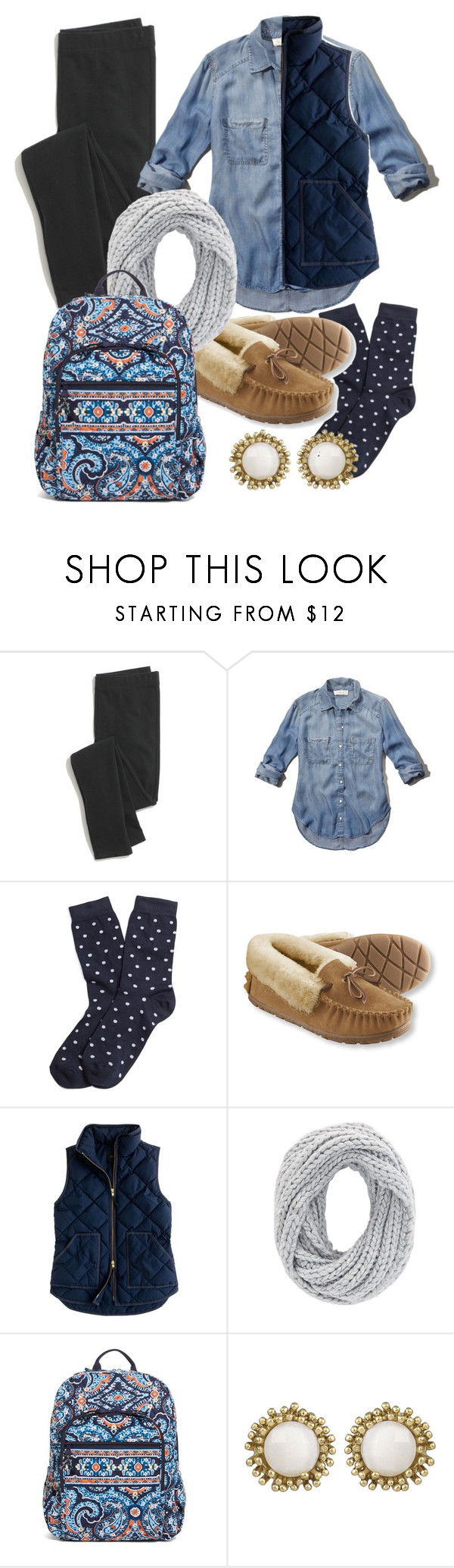 """Untitled #213"" by juliacm-bush ❤ liked on Polyvore featuring Madewell, Abercrombie & Fitch, Brooks Brothers, L.L.Bean, J.Crew, Charlotte Russe, Vera Bradley and Kendra Scott"