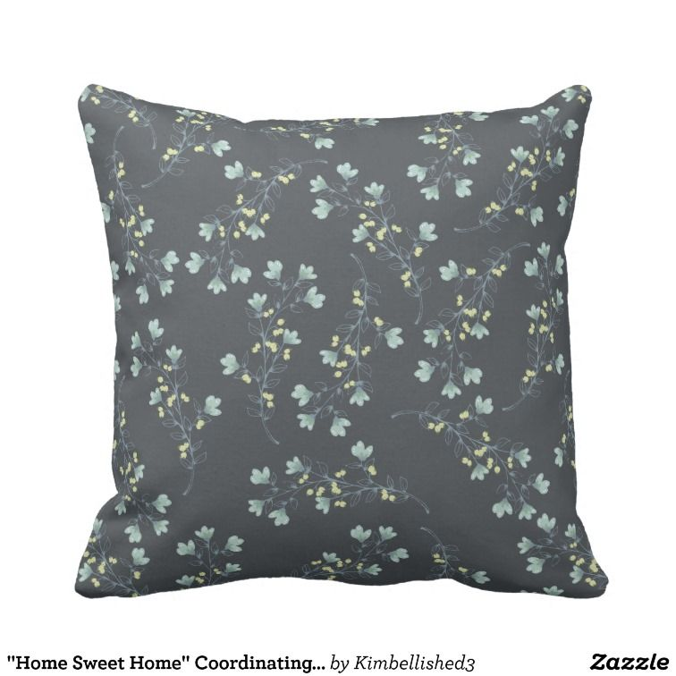 Home Sweet Home Coordinating Floral Throw Pillow Country Home Delectable Coordinating Decorative Pillows