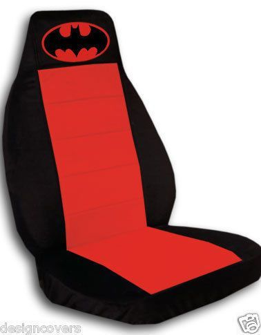 Nice 2 Cool Car Seat Covers In Black Red With Batman High Quality