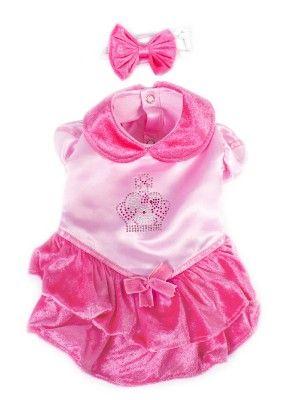 Princess Pink Velvet Dog Dress                                                                                                        .:BēLLäSFãSh!oN:.