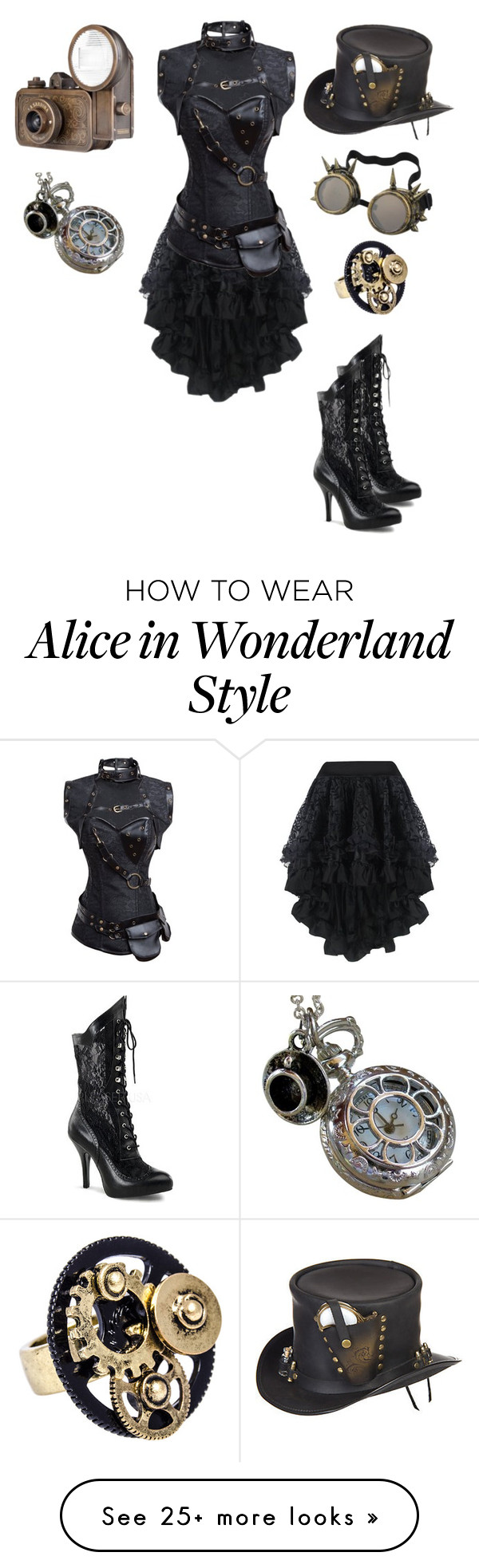 """Steampunk"" by alexdamarkiplite on Polyvore featuring Retrò, Overland Sheepskin Co., Funtasma and steampunk"
