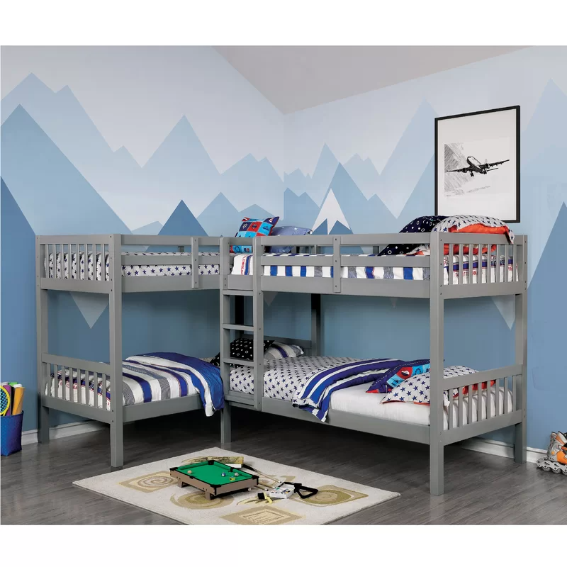 Mack & Milo™ Willi Quadruple Twin over Twin Bed Wayfair