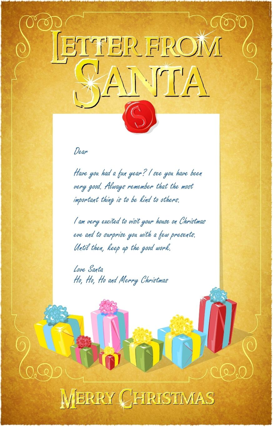 Free Printable Letters From Santa Letter from Santa
