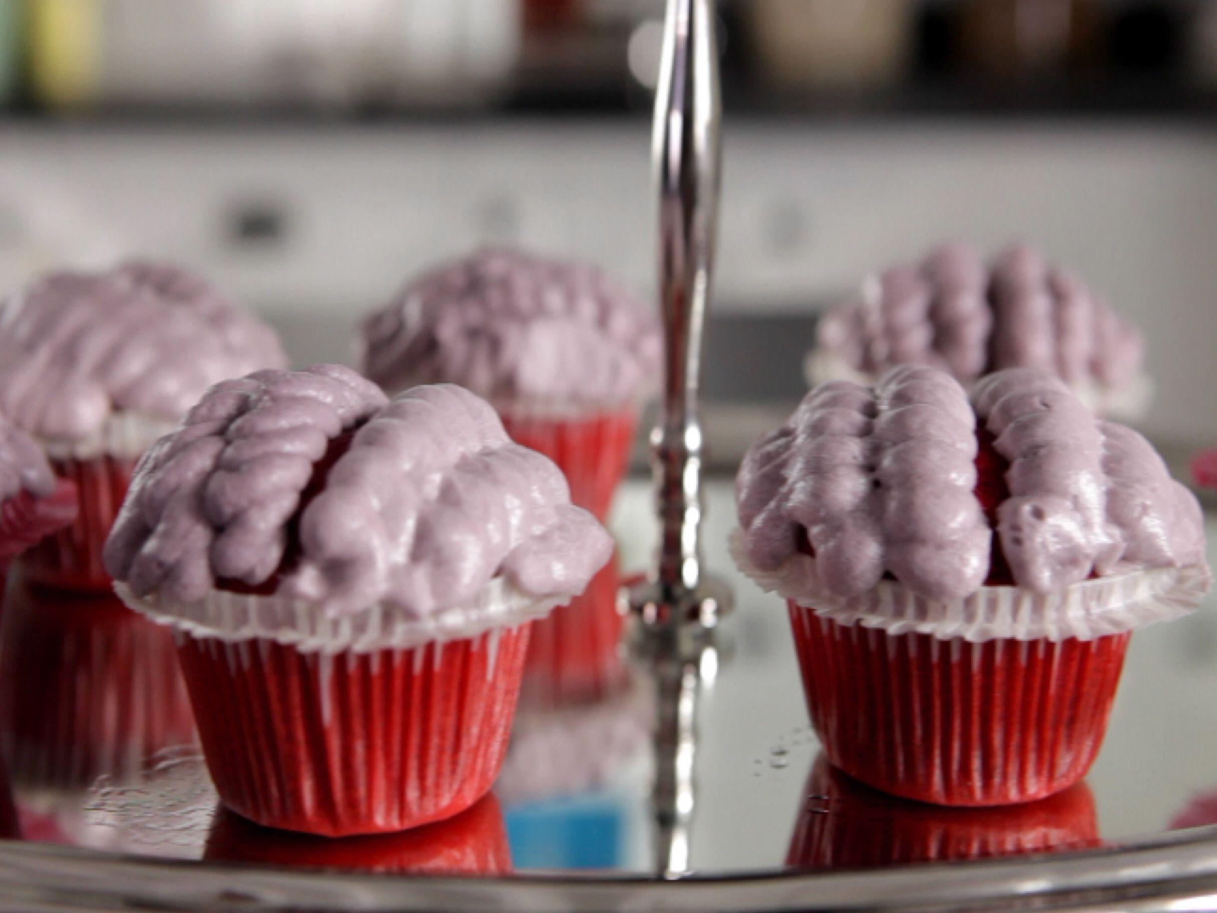 Red Velvet Brains Cupcakes