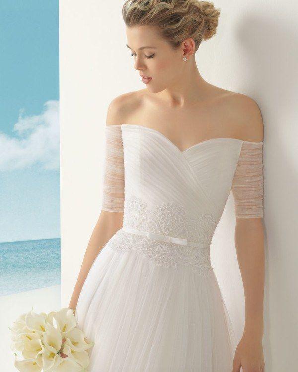 de fotos de vestidos de novia rosa clar