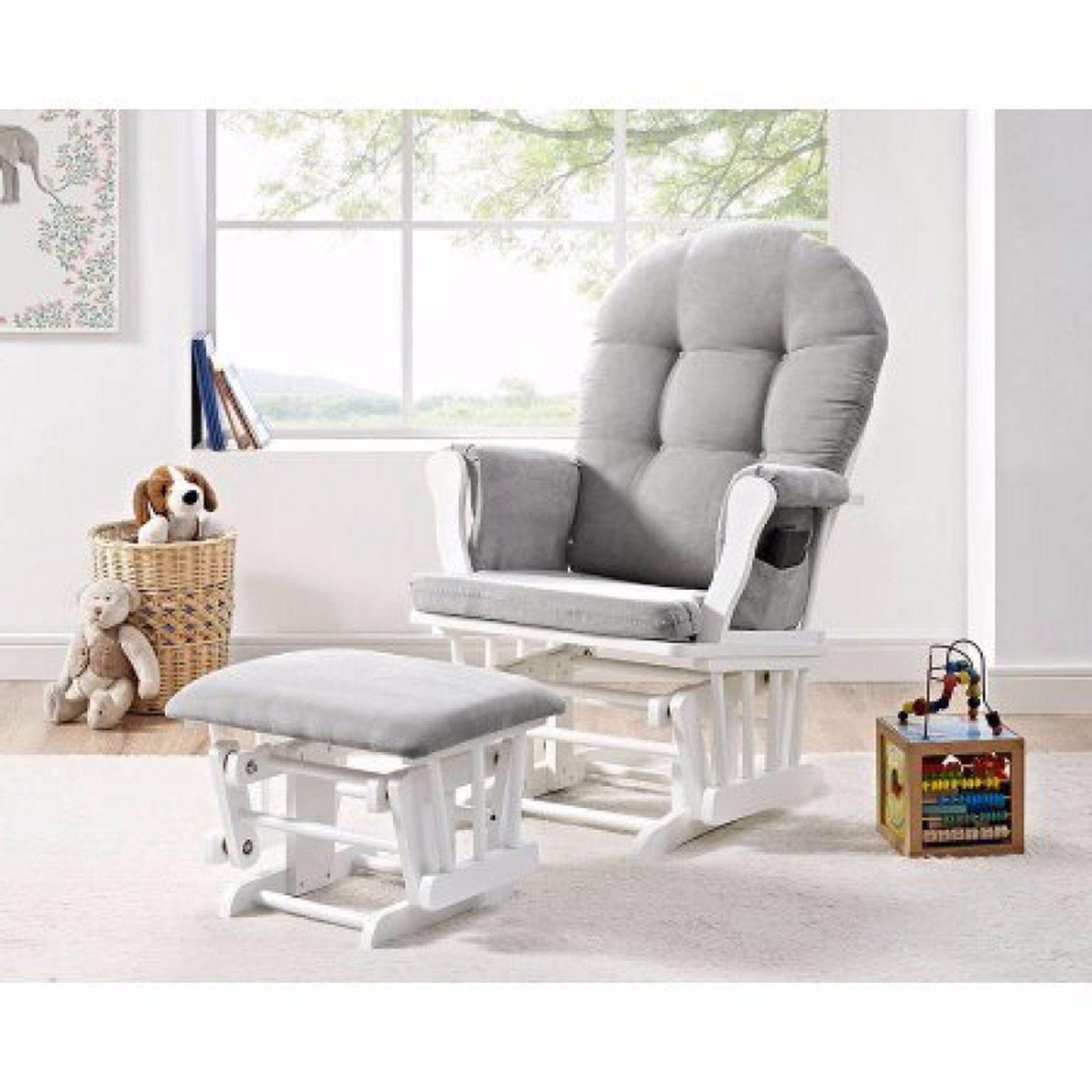 Breastfeeding chair with cushion nursery rocking glider