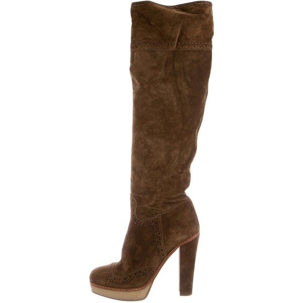 Pre-owned - Brown Suede Boots Prada Ey9AYr2
