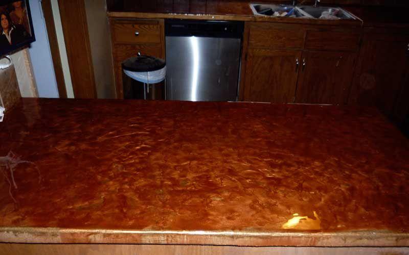 Concrete Countertops | Decorative Concrete Countertops Looks Like Copper?
