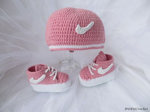 Nike Hat And Booties Crochet Crochet Baby Hat Von Bubucrochet