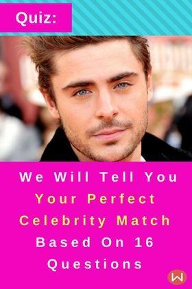 Celebrity Look Alike Quiz Male : celebrity, alike, Quiz:, Perfect, Celebrity, Match, Based, Questions, Quiz,, Quizzes,, Boyfriend