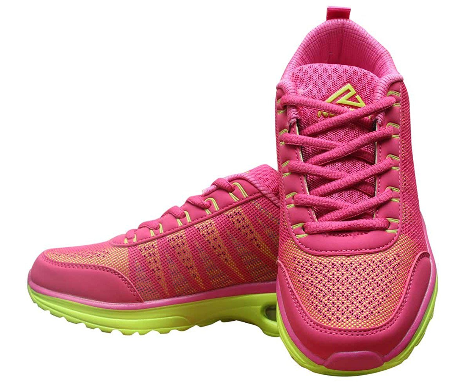 Pink and Neon Green Hiking Womens Jogging Shoe *** Click
