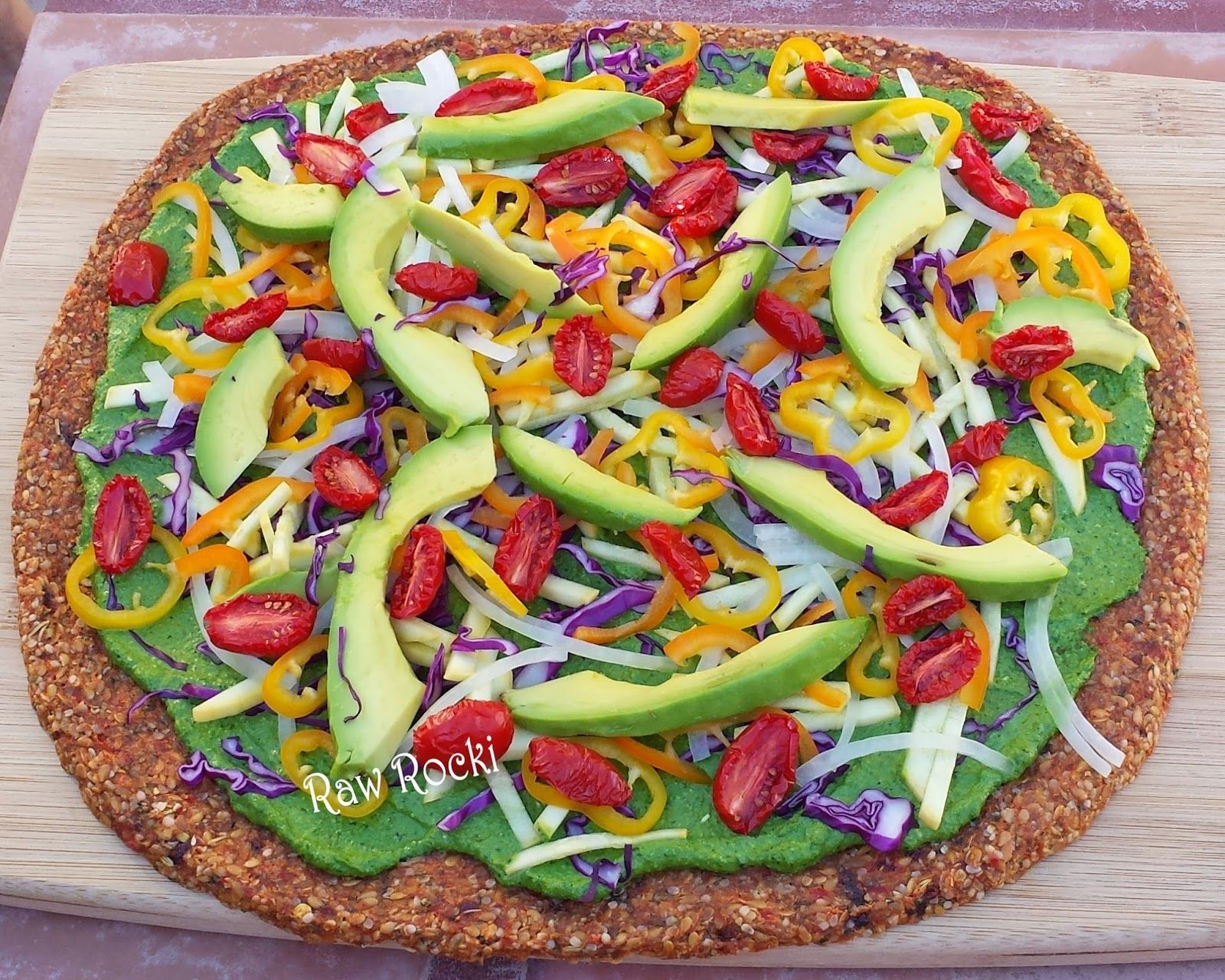 Raw vegan pizza with spinach basil pesto recipe by raw rocki raw raw vegan pizza with spinach basil pesto recipe by raw rocki forumfinder Gallery