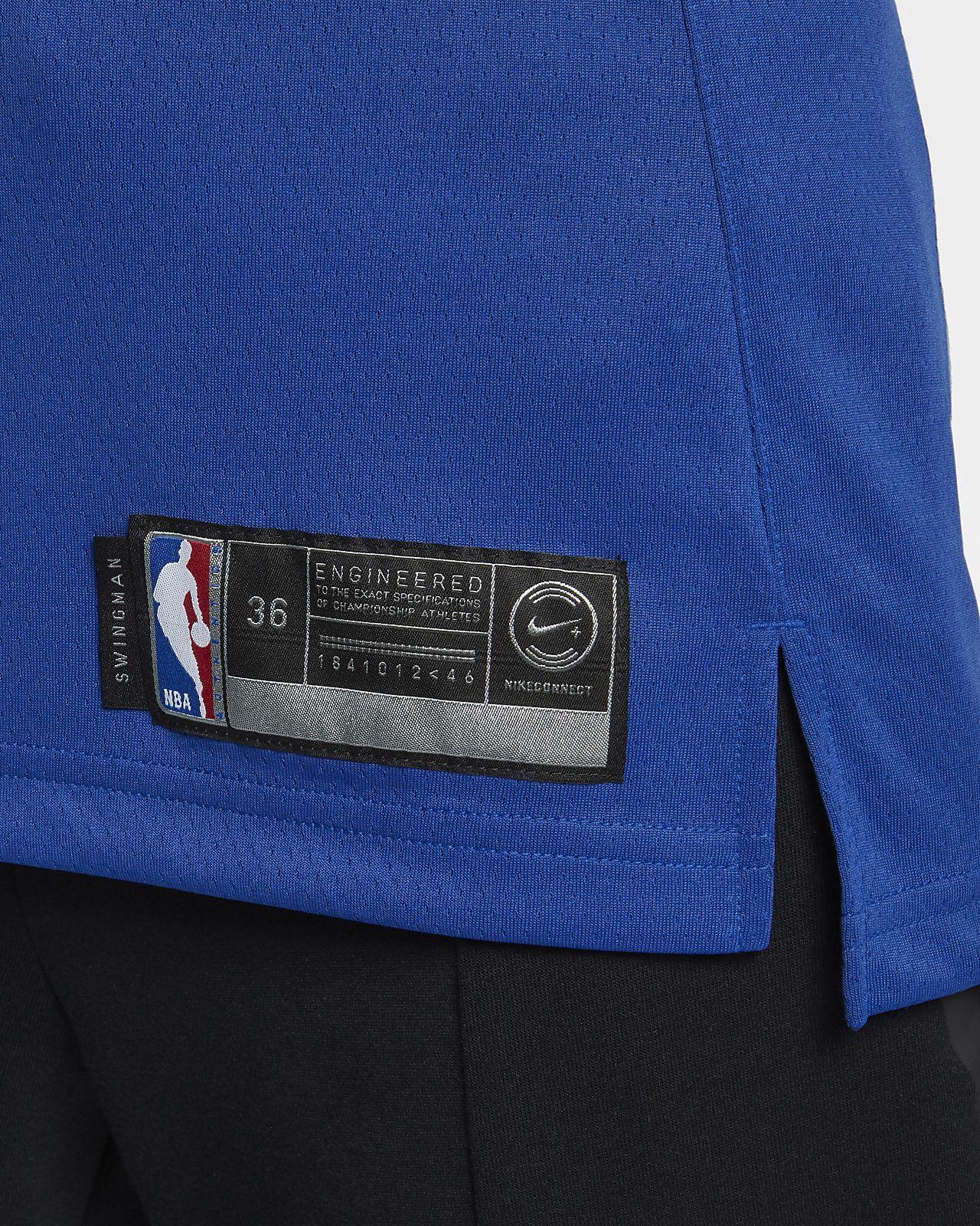 Nike Kristaps Porzingis Icon Edition Swingman Jersey (New York Knicks) Women s  Nba Connected - L (12–14) Blue 9401e9d9e