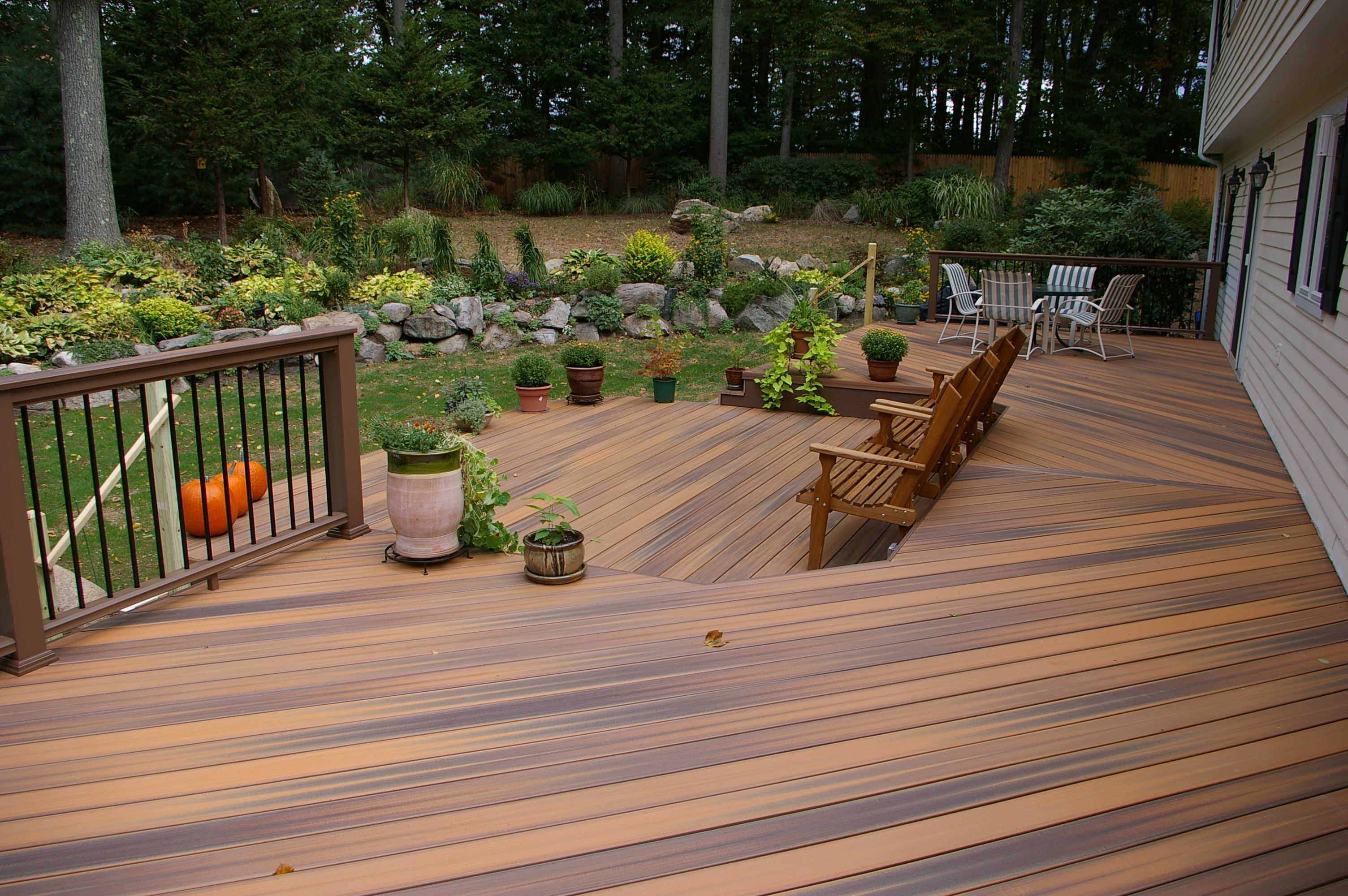 Great new pvc decking by fiberon azek and timber tech for Outdoor decking material
