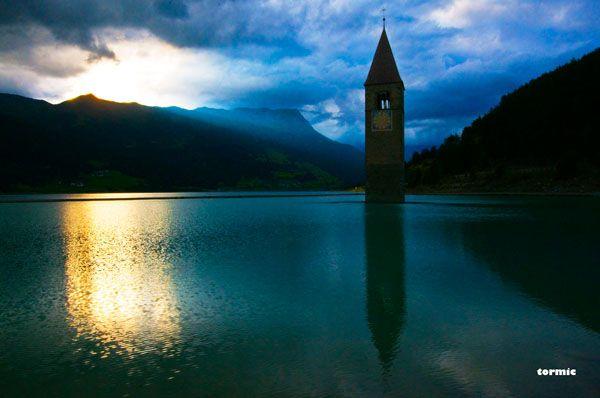Clocktower, Lago de Resia