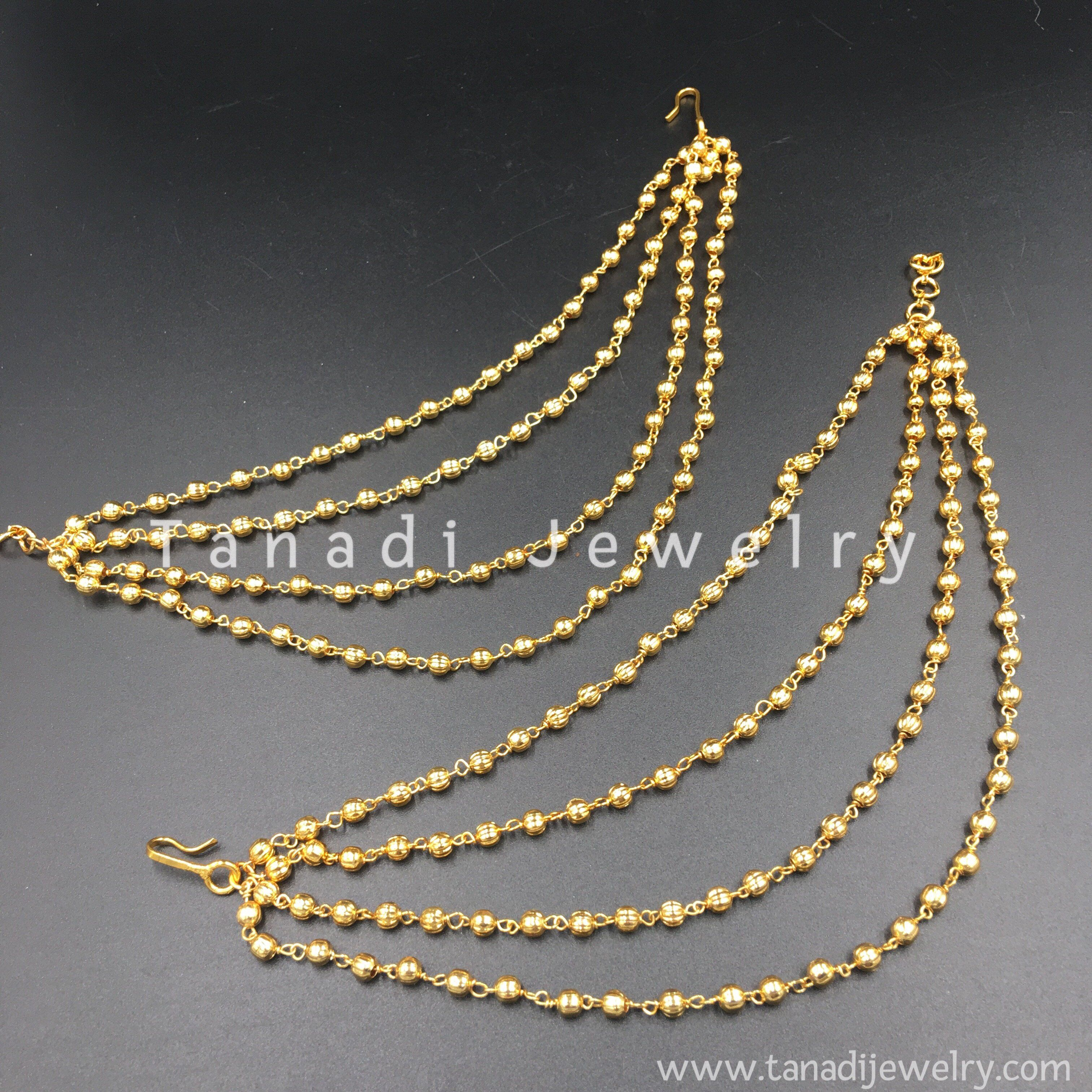 0943809c6 Golden Earchain - Four Layers in 2019   Jewelry   Jewelry, Gold ...