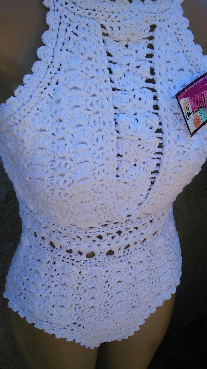 3d4e0ef51 Body  Maiô de Crochê Faço nos tamanhos PP 36 P 38-40 M 42 G 44 GG 46 ...
