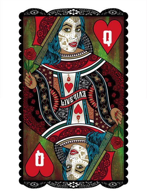 King And Queen Of Hearts Art Prints By Brian Ewing Tattoos And