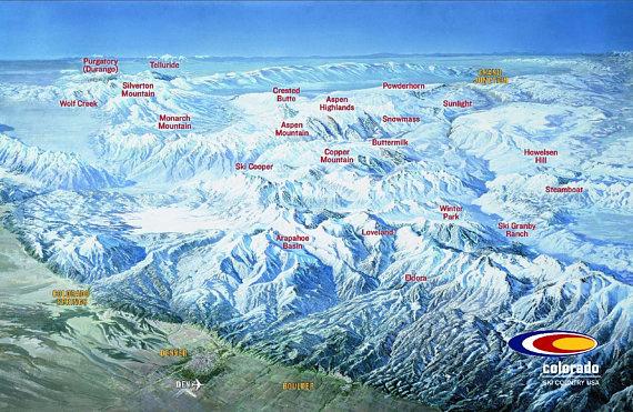 Denver Ski Resort Map on